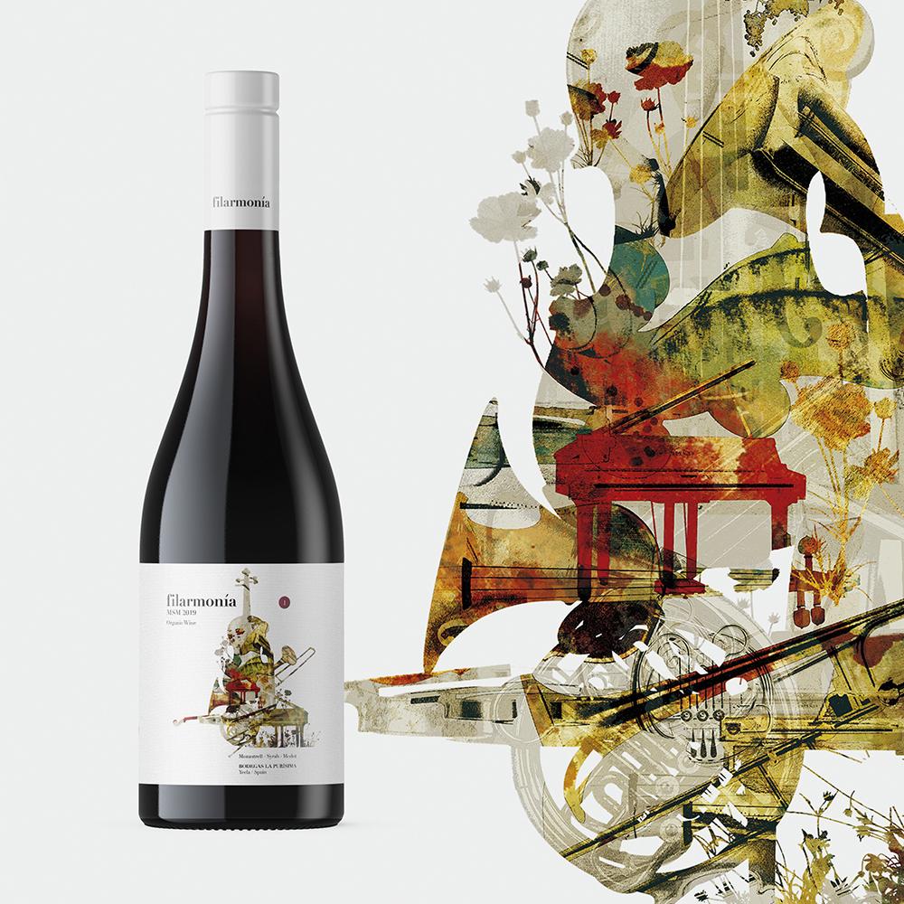 Armoder Studio Creates the Image of the Organic Wine Filarmonía MSM