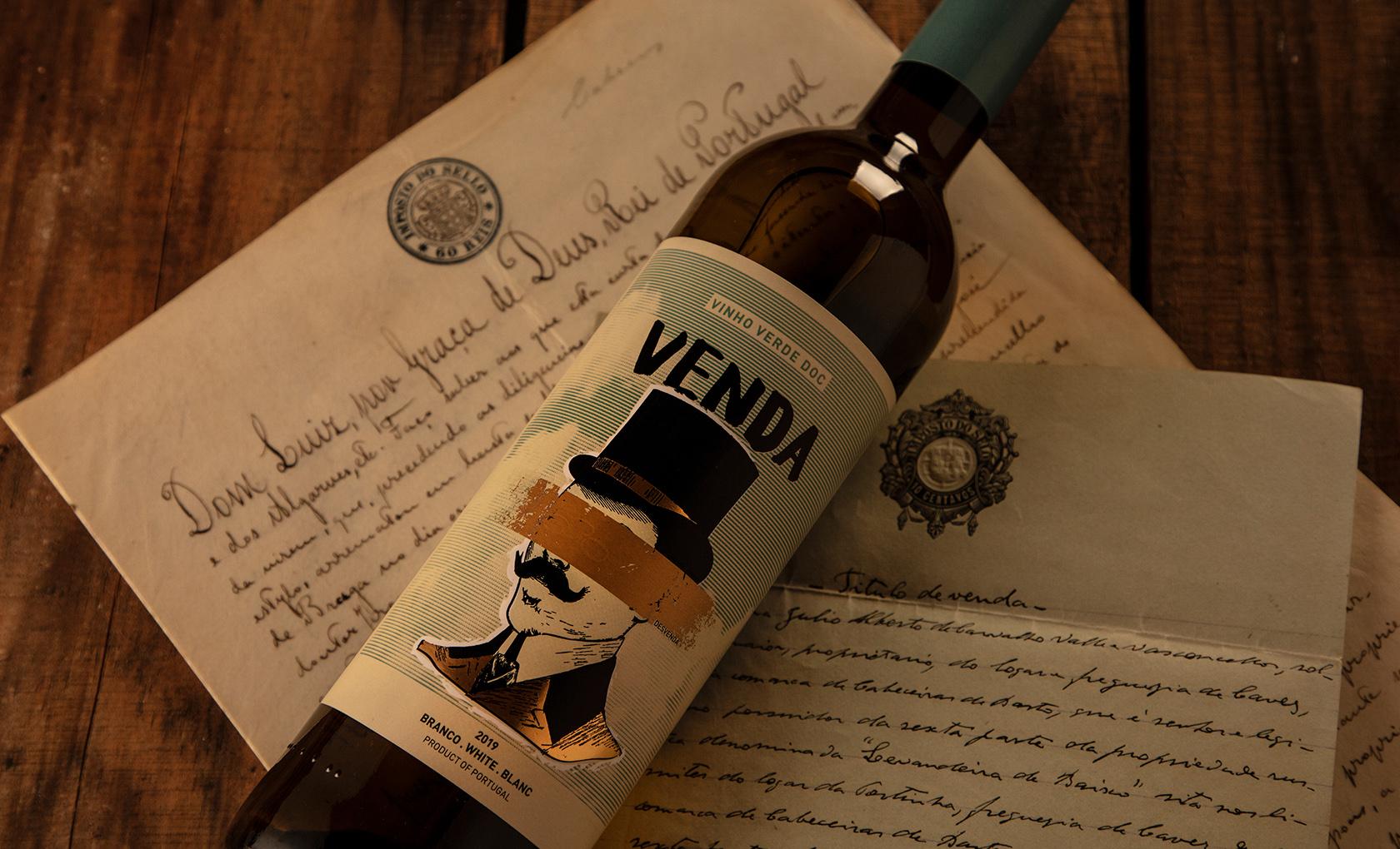 New Label Design for Venda Wine from Quinta da Venda by M&A Creative Agency