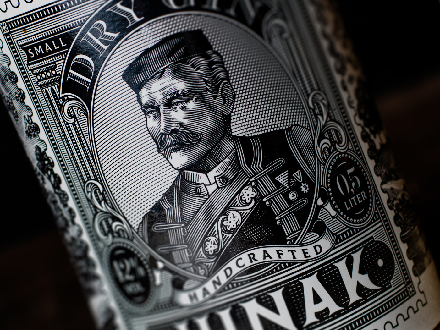 Label Design for Junak Dry Gin by Widakk Design Studio