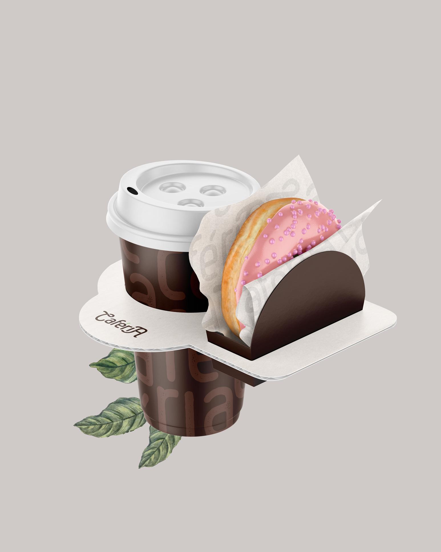 Caféria Arabica Coffee Concept Packaging Design by Quarto Criativo