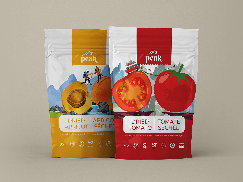 Peak Organic Natural Dried Fruits Product Brand
