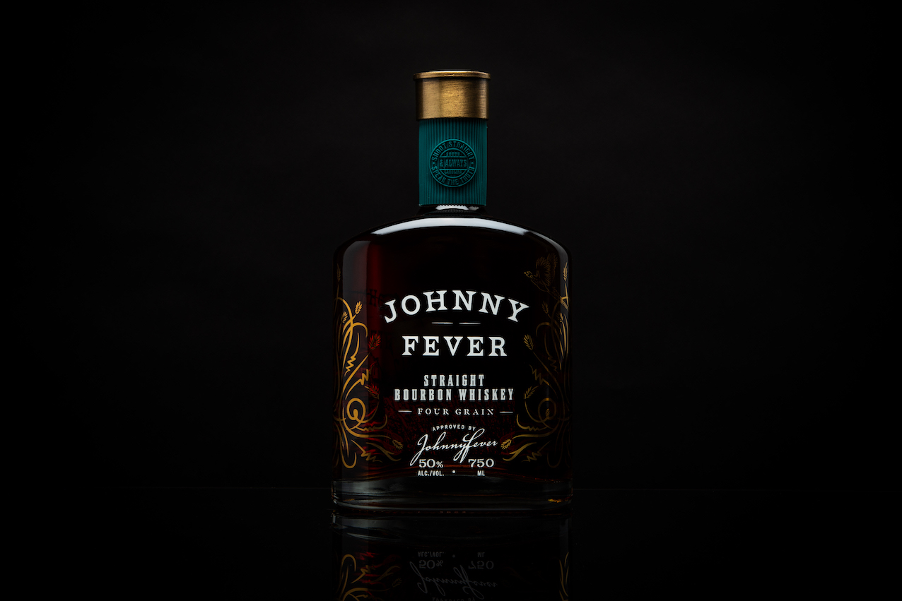 Johnny Fever Whiskey Packaging Design by Thoroughbred Spirits Design