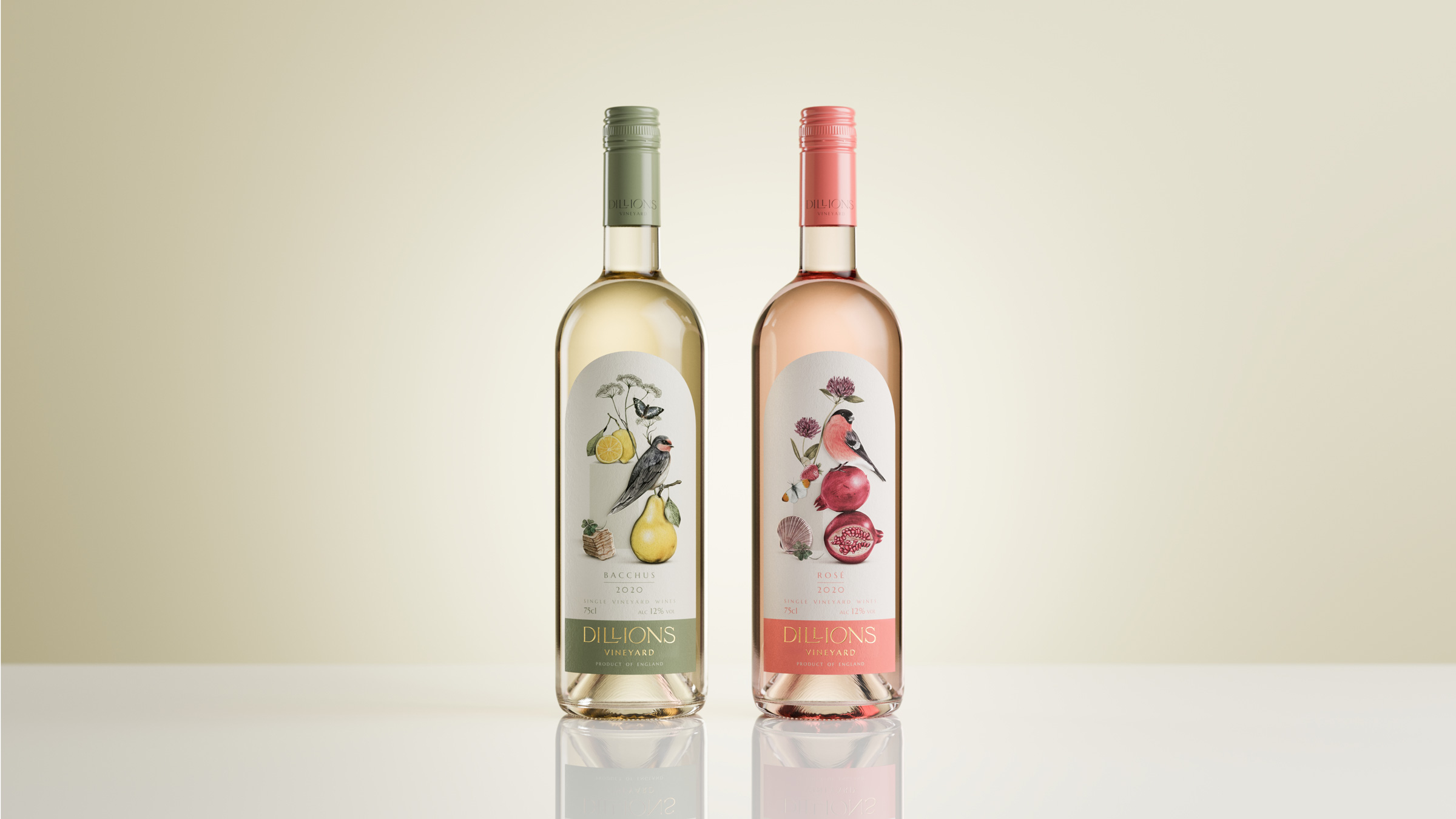 Kingdom and Sparrow Creates Illustrative Wine Labels for Untraditional Boutique English Wines