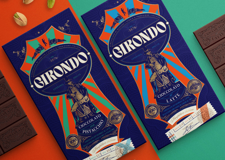 Girondo Cioccolato Artigianale Italian Chocolates Packaging Design by Emi Renzi