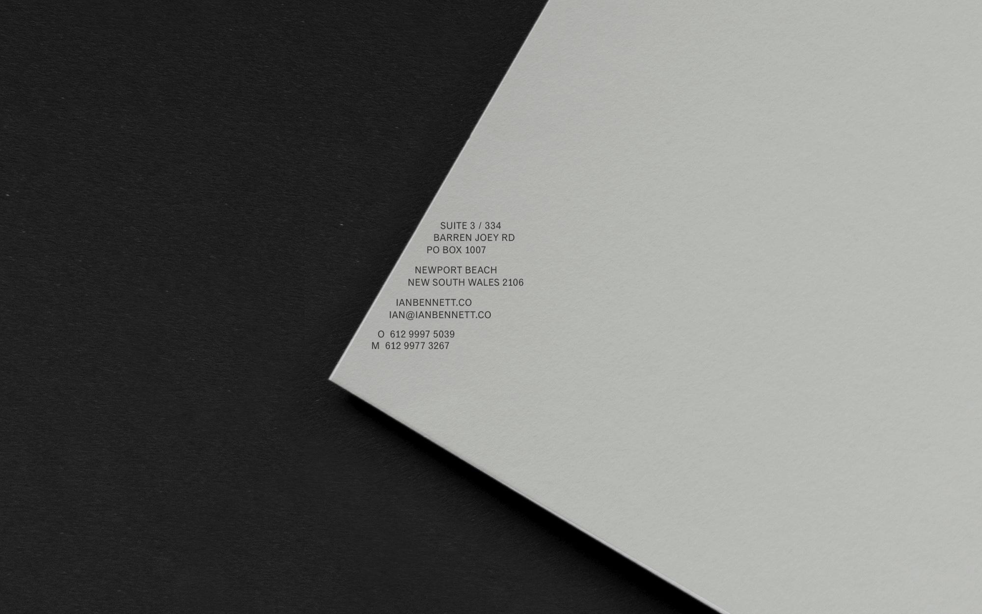 Studio Otherness Create Branding for Ian Bennett Architectural Practice