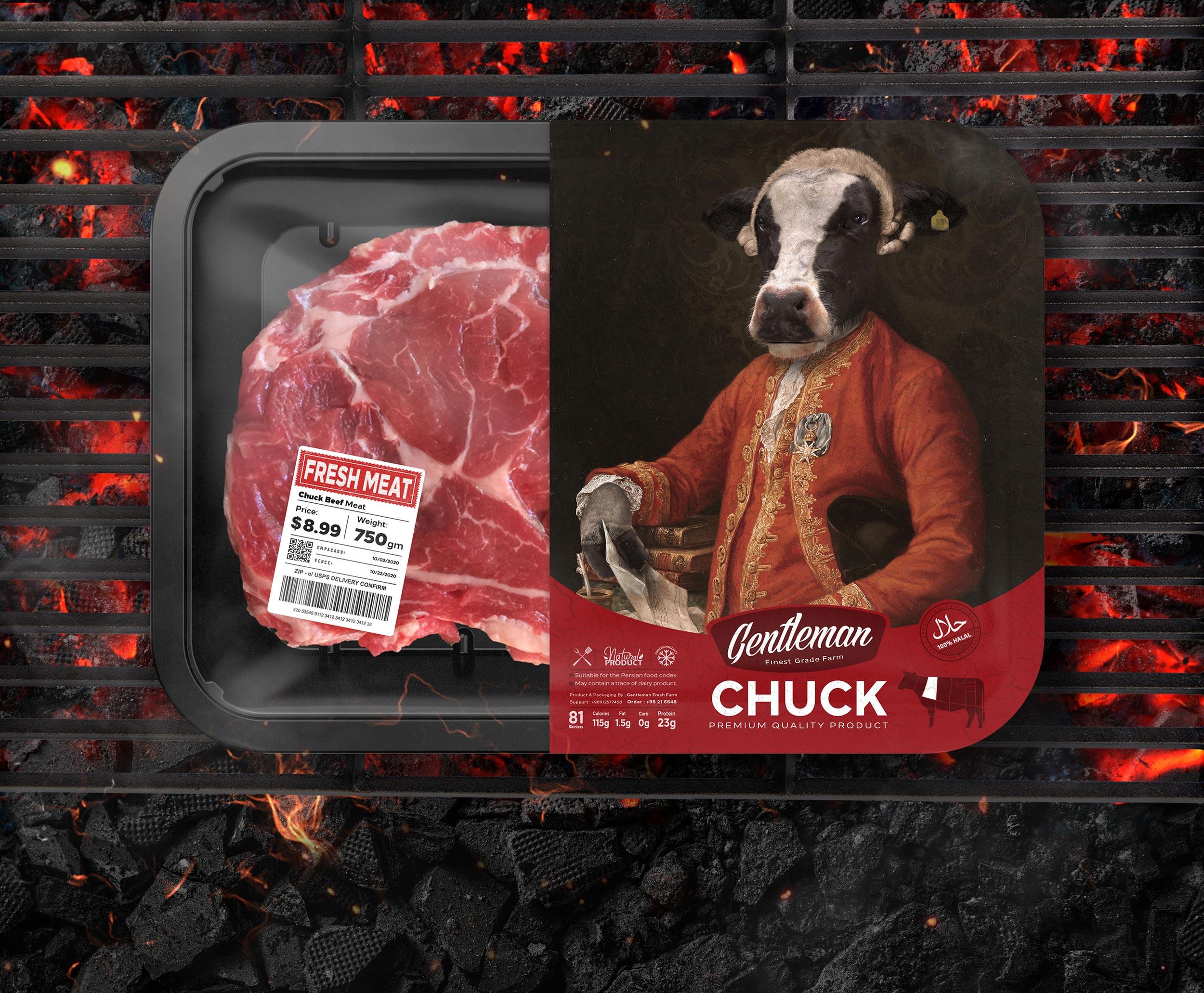 Gentleman Meat New Packaging Designed by Studio Metis