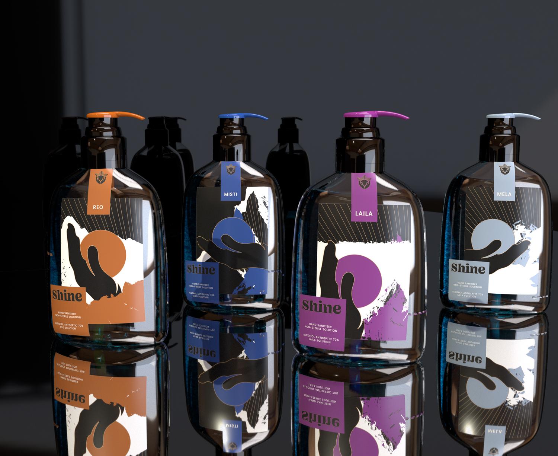 Shine Hand Sanitiser Concept by Omar Nasser