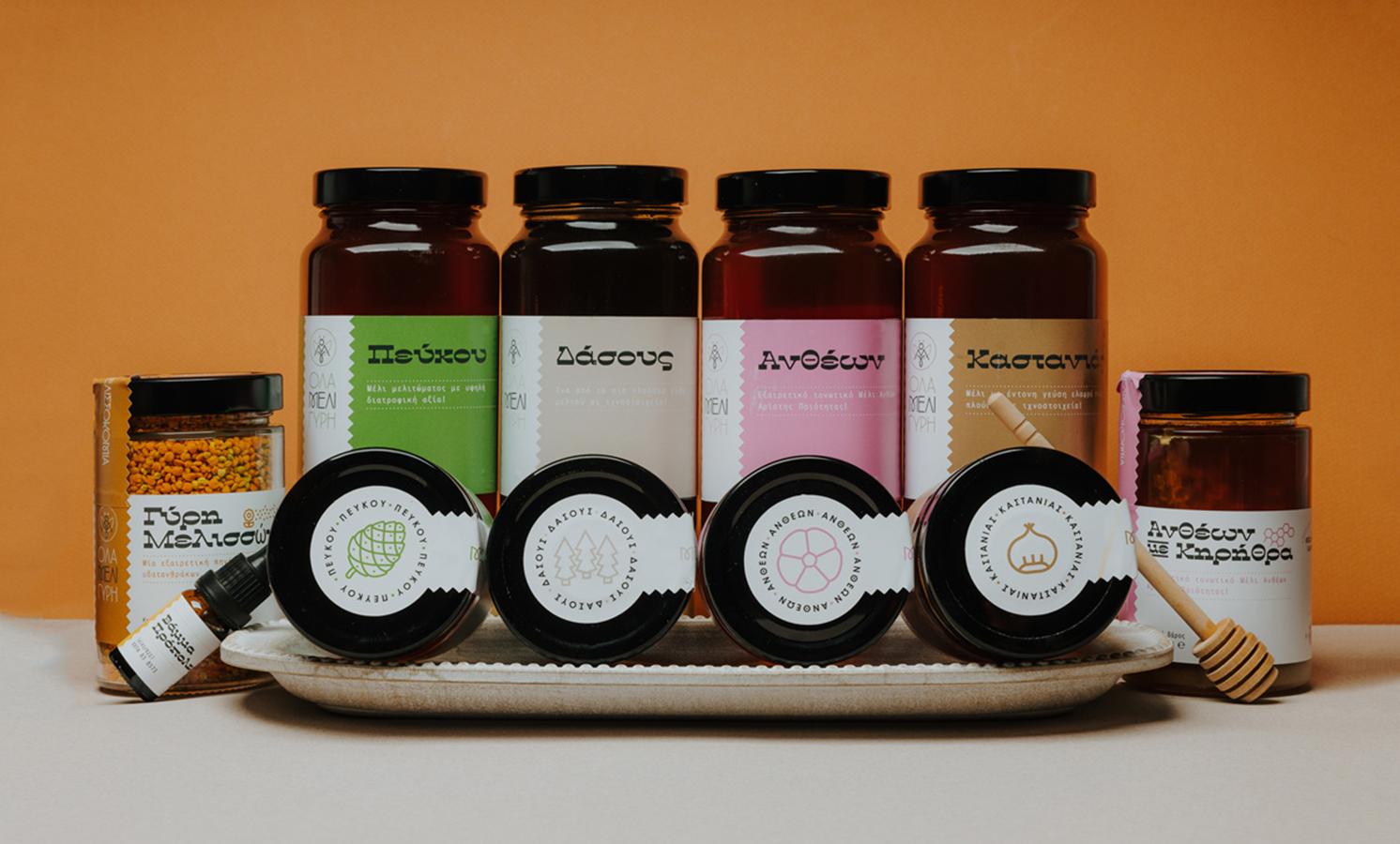 Circus Design Studio Create Ola Meli Gyri Beekeeping Company Brand and Packaging Design