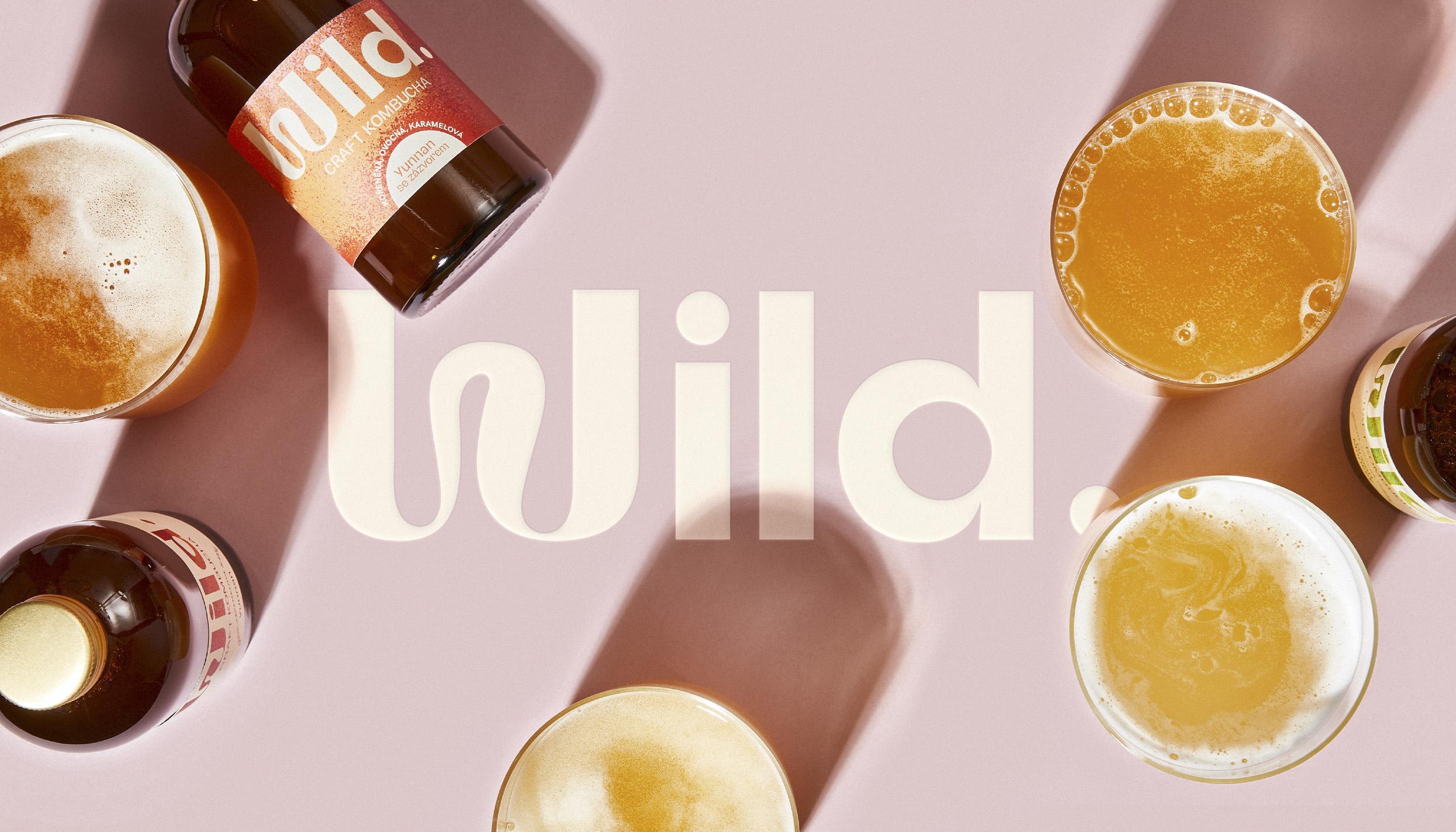 Wild Kombucha Brand and Packaging Design by Marlon Studio