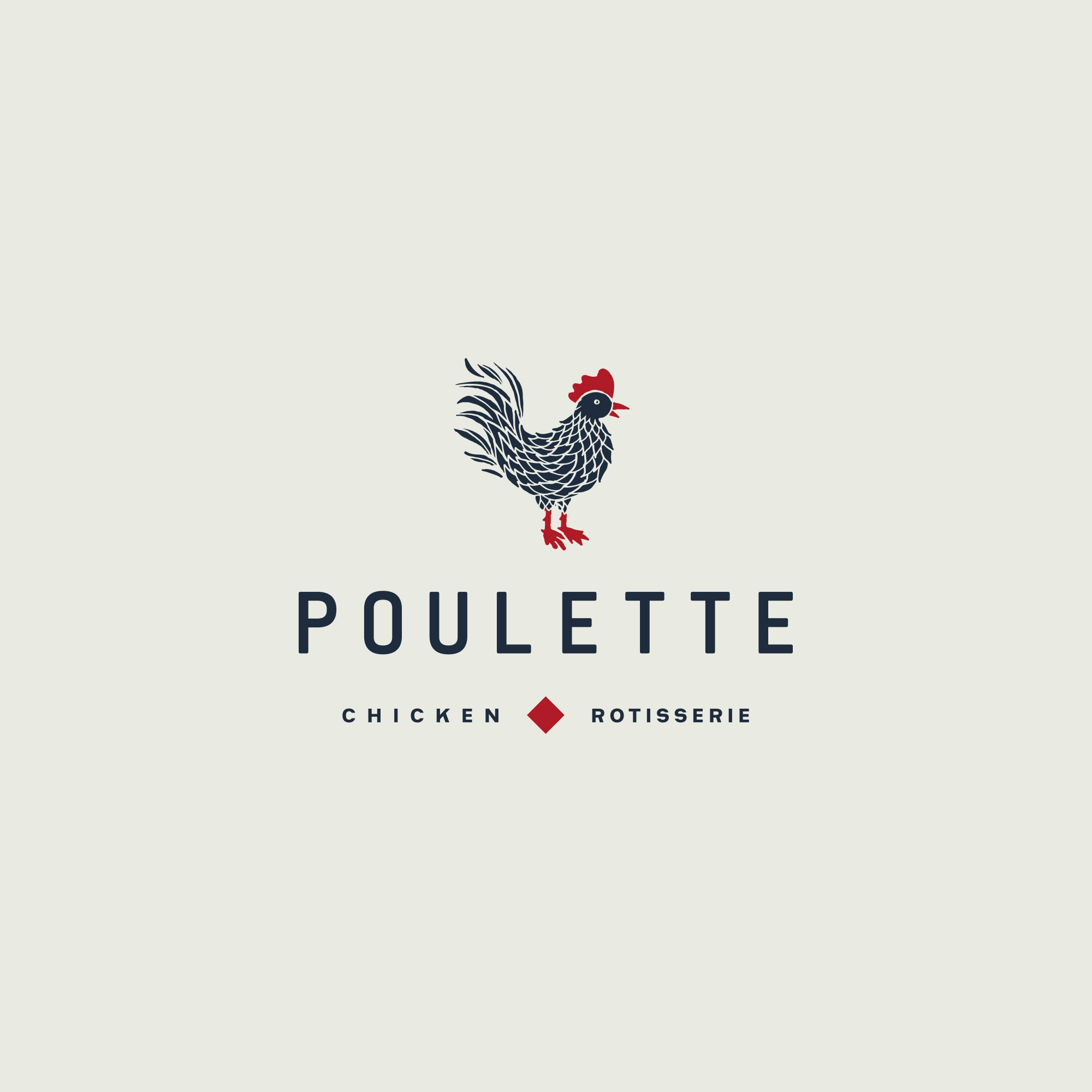Concept for Poulette Rotisserie Take-Away and Dining Restaurant Branding