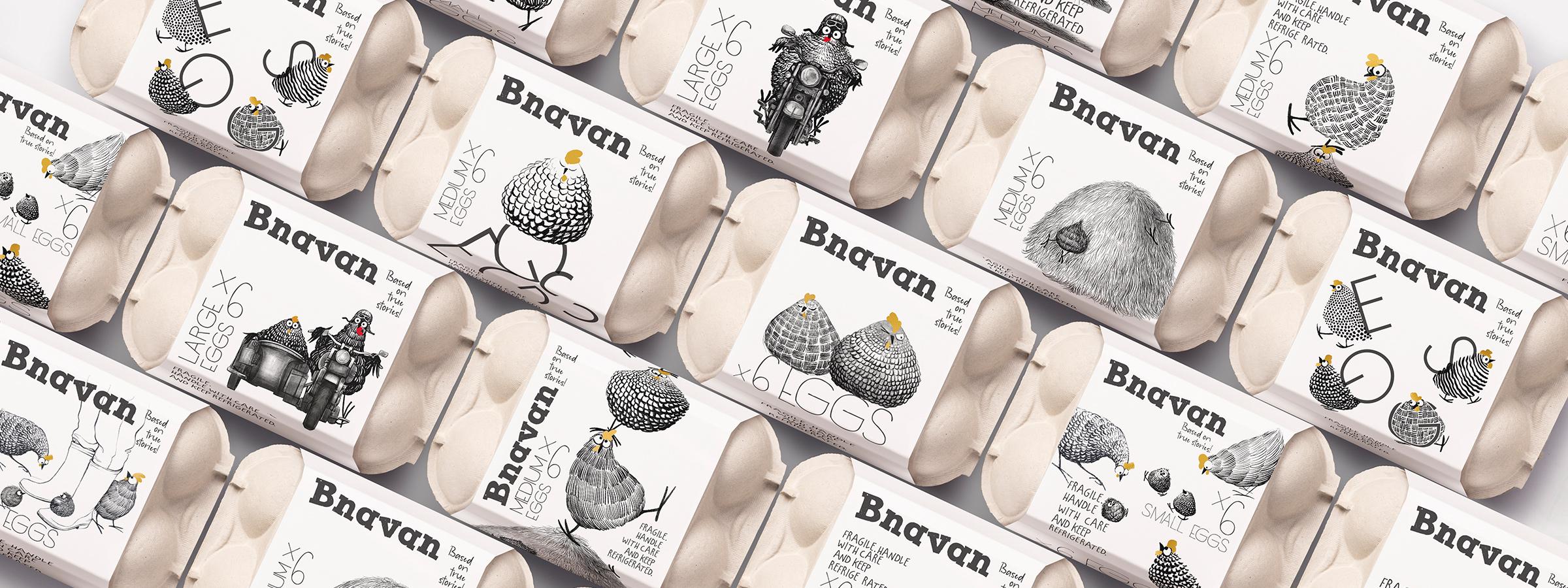 Brand and Packaging Design for Bnavan Eggs by Backbone Branding
